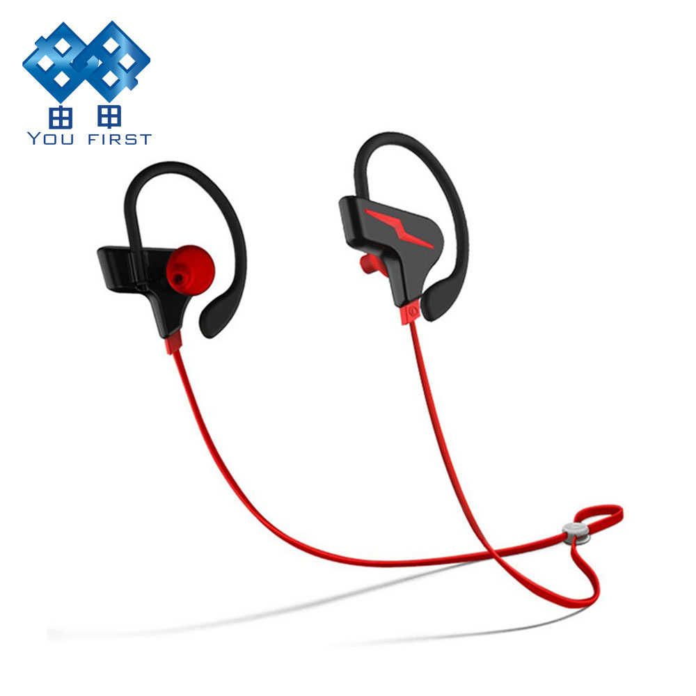 Bluetooth Earphones Stereo Ear Hook Handsfree Headphone Wireless Sport Headset With Microphone For Mobile Phone Xiaomi iPhone original xiaomi bluetooth headset mi wireless headset with microphone handsfree portable ear hook earphone mini earbud for phone
