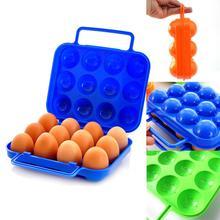 Портативный 12 яиц пластиковый контейнер держатель складной ящик для хранения яиц ручка чехол AP6