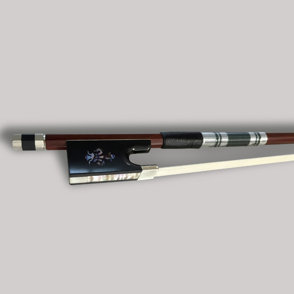 Highgrade Violin Bow Exquisite Class A Horsehair Bow 4/4 Fiddle Professional Violino Parts Carved Orchid Ebony Frog Brazilwood high grade professional violin 20 years old naturally dried stripes maple hand craft violino 4 4 3 4 fiddle case bow rosin