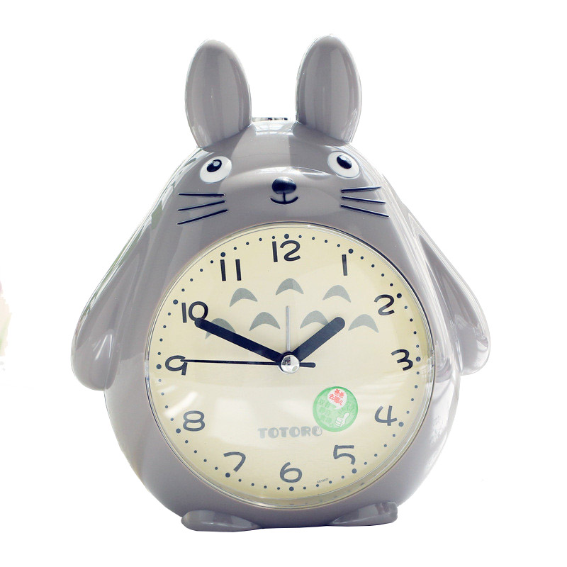 Totoro Quartz Table Clock Modern Timer Snooze Alarm Clock pokemon LED Light Mute Silent Beside clock Home Children Alarm Clock