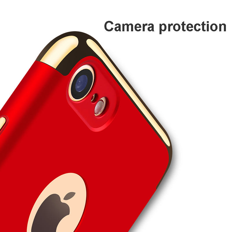 Vpower Plating Case para iphone 7 plus iphone 7 Case Gold Black - Accesorios y repuestos para celulares - foto 4