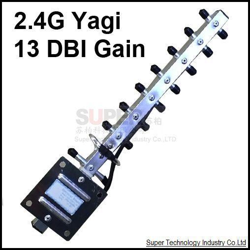 Conector SMA 2.4 GHz 13dbi antena wifi, antena yagi 2.4G yagi antena para recibir o transmisión 2400 mhz
