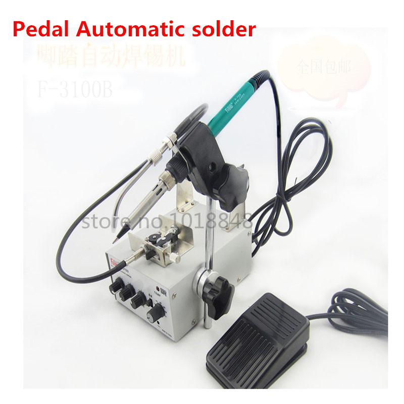 F3100B Multifunction Automatically send tin system Pedal Control Constant temperature Electric soldering iron Soldering station цены