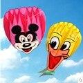 Envío de la alta calidad mickey donald duck cometa suave kite con la línea de mango al aire libre juguete volador pulpo weifang kite factory