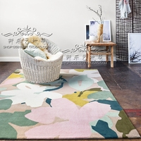 Customizable Pink petal Carpets For Living Room Computer Chair Area Rug Children Play Tent Floor Mat Cloakroom Rugs And Carpets