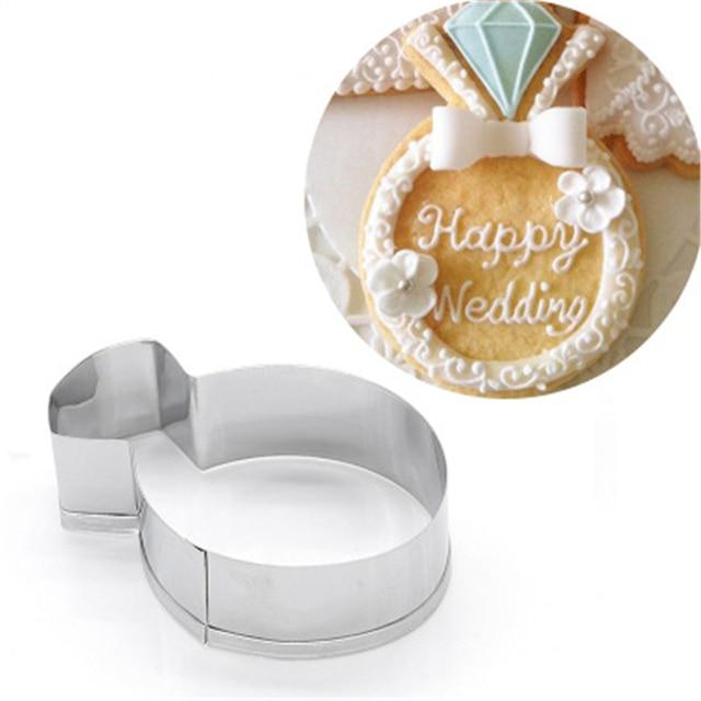 Amw Diamond Ring Shaped Fondant Cake Decorating Gereedschap Goedkope
