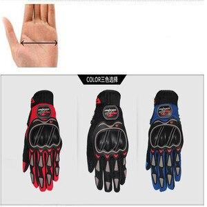 Image 5 - Leather Gloves Motorcycle Gloves Motorcycle motocross Bike Riding breathable Men Women Full Finger Touch Screen Gloves