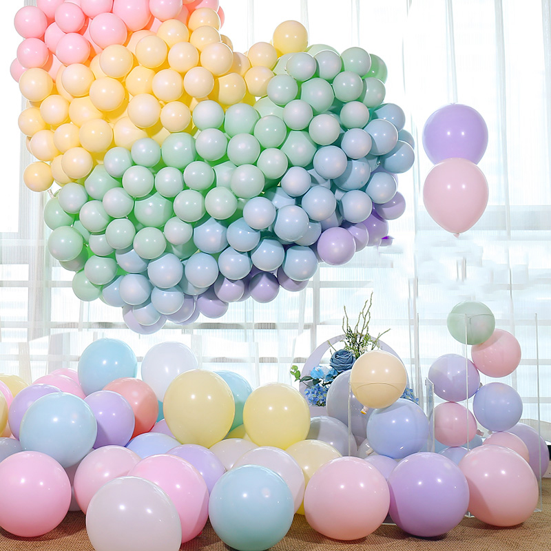 Image 3 - Macaron Color Latex Balloons 30pcs 5 inch Festival Birthday Party Decorative Balloons Sweet Colorful Party Hanging Decoration-in Ballons & Accessories from Home & Garden
