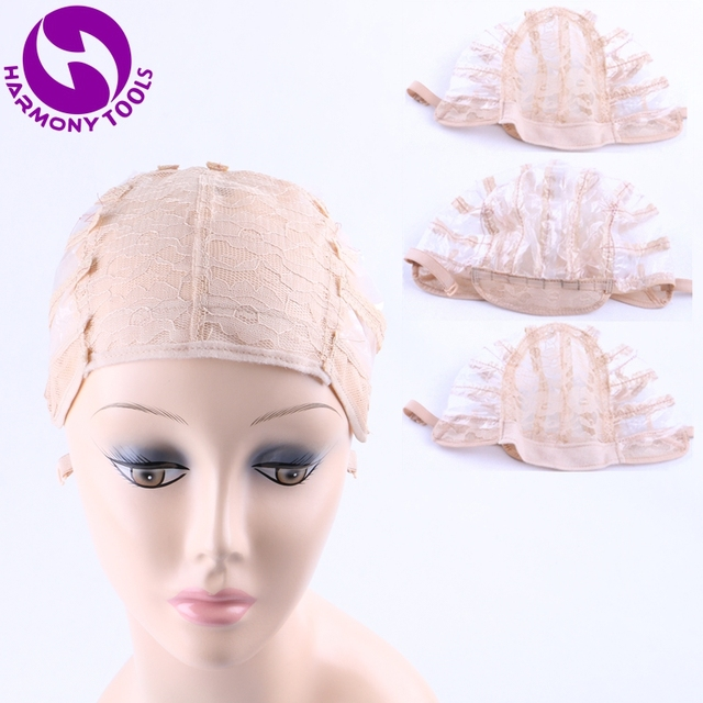 HARMONY 20 Pieces breathable mesh weaving wig caps for making wigs with adjustable strap (Black Brown Blonde in stock) 6