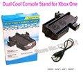 Lo nuevo 4-en-1 de doble ventilador de refrigeración de la consola y el controlador de la consola gamepad dual estación de carga del cargador soporte para microsoft xbox one