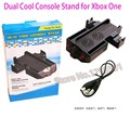 Newest 4-in-1 Dual Console Cooling Fan & Console Controller Gamepad Dual Charging Charger Station Stand for Microsoft XBOX ONE