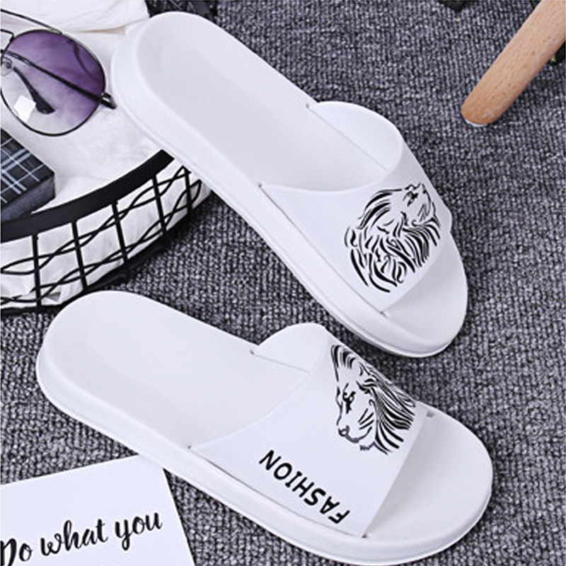 Plus size 2018 woman slippers bathroom anti-slip unisex summer beach slippers comfortable black+white flat shoes woman slippers 201818 woman slippers caf