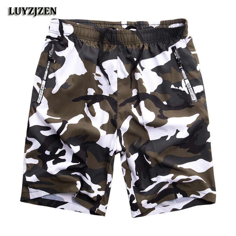 Summer Wholesale Men's Board Shorts Quick Dry Beach Shorts Bermudas Masculina Camouflage Men Boardshorts Big Plus Size 8XL K183