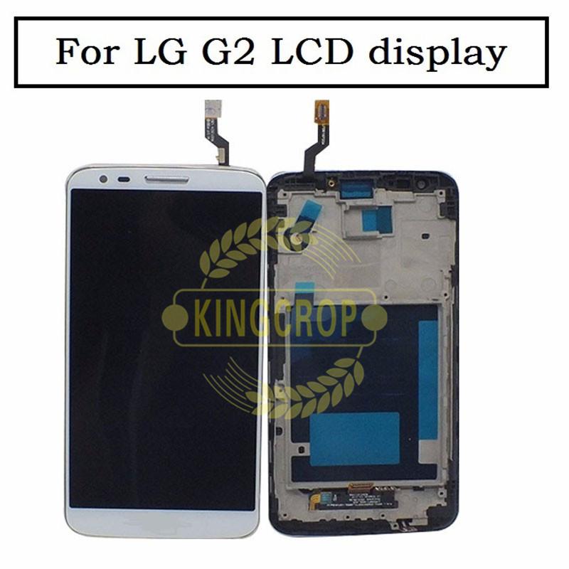 Prix pour OEM 100% test Écran lcd + Écran Tactile Digitizer Assemblée avec cadre pour LG G2 D800 D802 D803 D805 lcd avec cadre remplacement