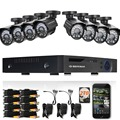 DEFEWAY 720P HD Outdoor CCTV System 2000G HDD 8CH DVR 1080P HDMI Output 1080N Home Video Surveillance Security Camera 1200TVL