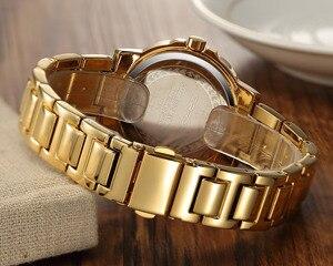 Image 5 - CRRJU Recentes Japão Marca Mulheres Relógios Retro Moderno À Prova D Água Senhoras Relógios De Cristal Rose Gold Aço Inoxidável Montre Femme