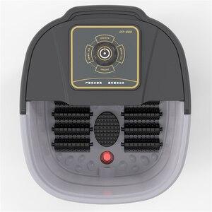 Image 3 - 自動赤外線電気 12 足マッサージローラー加熱されたマシン足ケア装置バレルスパバス治療ローラー脚マッサージ