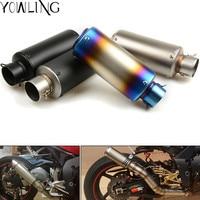 51mm 61mm Motorcycle Universal Exhaust Muffler Pipe with Baffler Exhaust For Yamaha R1 R6 R3 FZ1 FZ6 MT07 MT09 XJ6 TMAX 500 530