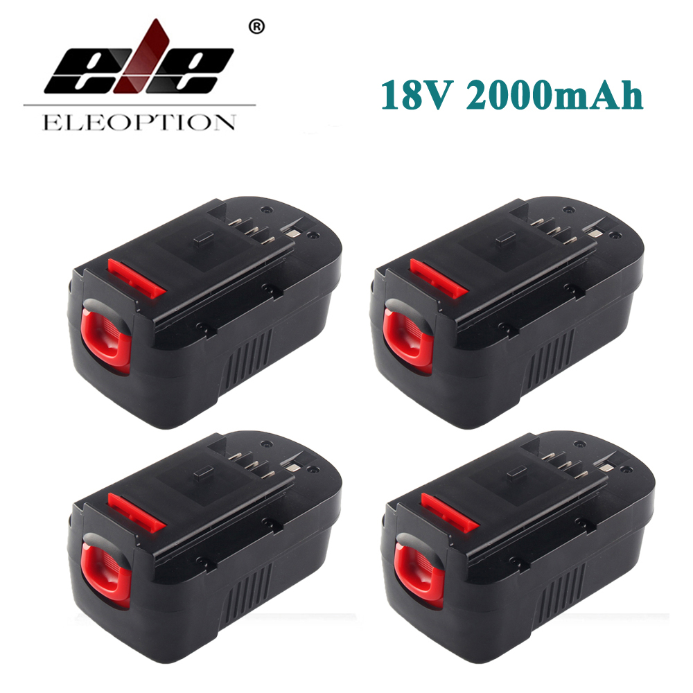 ELEOPTION 4PCS High Quality 18V 2000mAh NI CD Replacement
