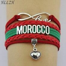 Trasporto veloce Marocco A Buon Mercato Braccialetti Del Cuore di Modo  Handmade Del Tessuto Corda di Cuoio Dei Braccialetti Per .