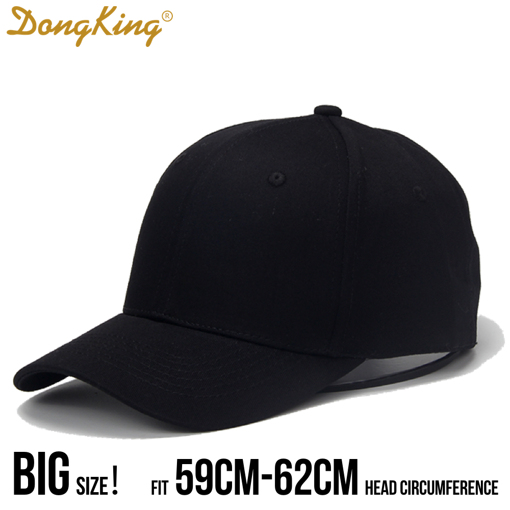 DongKing Big Size Baseball Caps Large Head Hats Big Head Circumference Cap Solid Cotton Baseball Caps Large Size Hats Gift