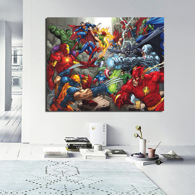 Heroes Of Marvel HD Wall Art Canvas Posters And Prints Canvas Painting Decorative Picture For Office Living Room Home Decoration