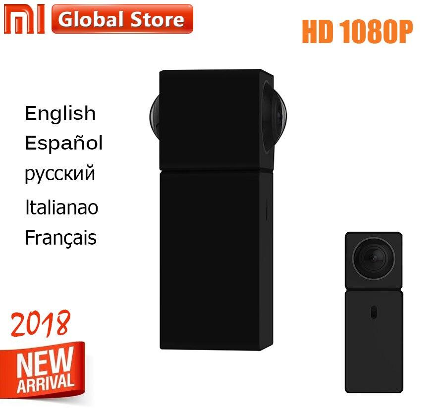 Xiaomi hualai Xiaofang Smart Web Cam Dual Lens 1080P Wifi Panoramic View Dafang IP camera Wireless SD Card Slot for Smart Home