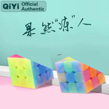 QiYi Warrior W 3x3x3 Jel ly Magic Cube MoFangGe 3x3 Cubo Magico Professional Neo Speed Puzzle Antistress Fidget Toys