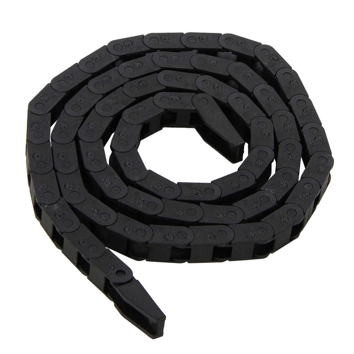 7*7mm  Nylon Cable Carrier Drag Chain Black Wire Carriers  Plastic Towline Nested For CNC Machine  Electronic Tool