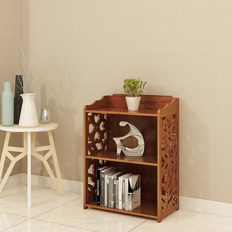Bookcase Nordic Japanese Simple Bamboo Bookshelf Small