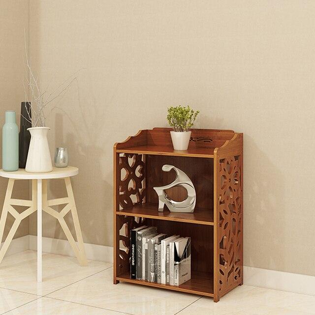 Bookcase Nordic Japanese Simple Bamboo Bookshelf Small Racks Shelves Study Cabinet Accessories Home Decor