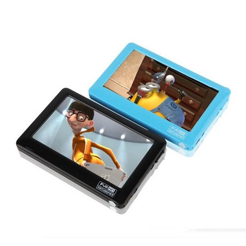 HD Touch Screen 8GB MP4 Blue MP5 Player With Speaker Av Out Game Console  4 3 MP4 MP5 Player MP4 Recorder Mini Music Player