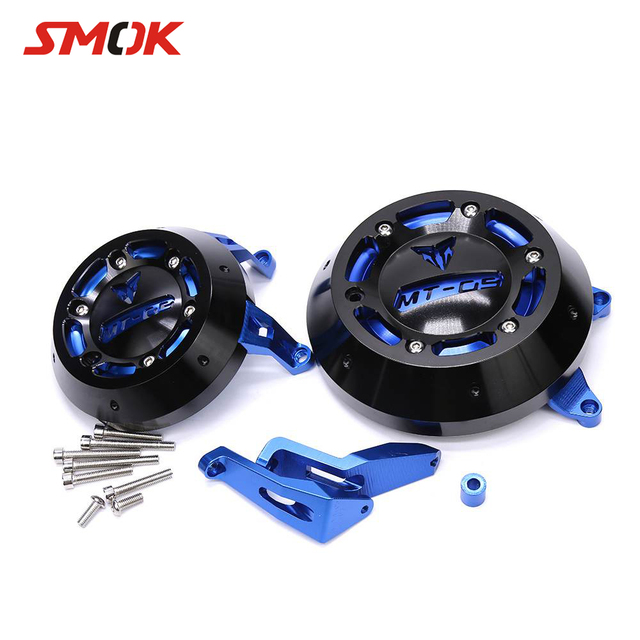 SMOK Motorcycle CNC Aluminum Alloy Engine Guard Case Slider Cover Protector Set For Yamaha MT-09 MT 09 MT09 FZ-09 2014 2015 2016