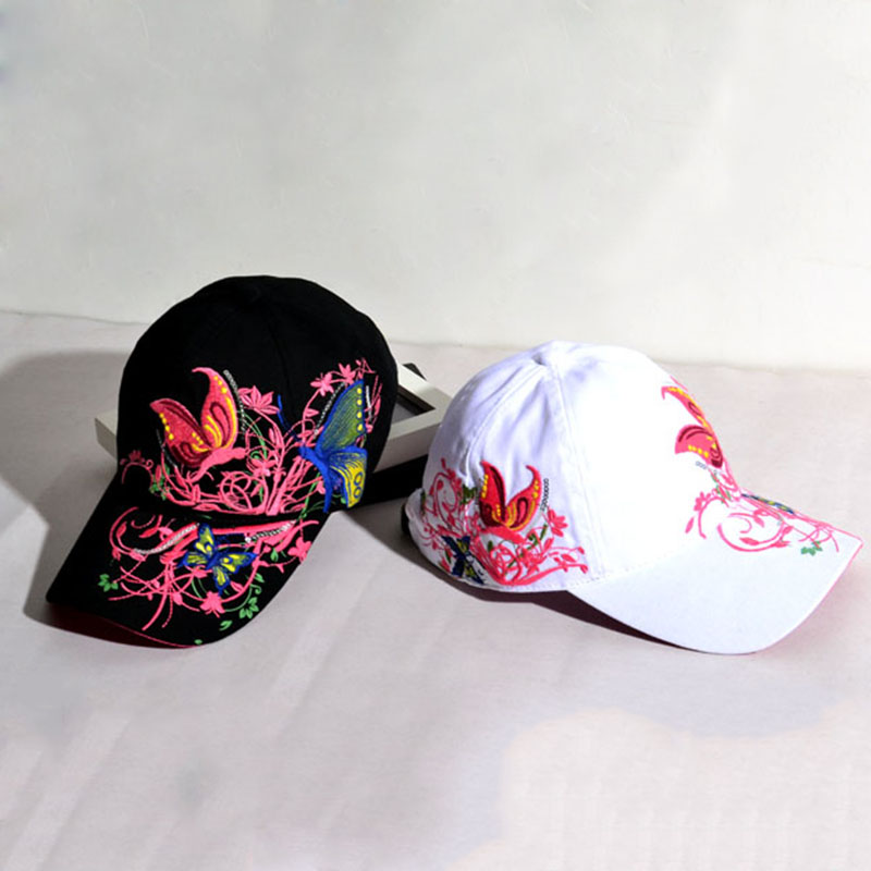 Beautful Butterfly Casual Cap Hat Sport Cap Adjustable Embroidered 0
