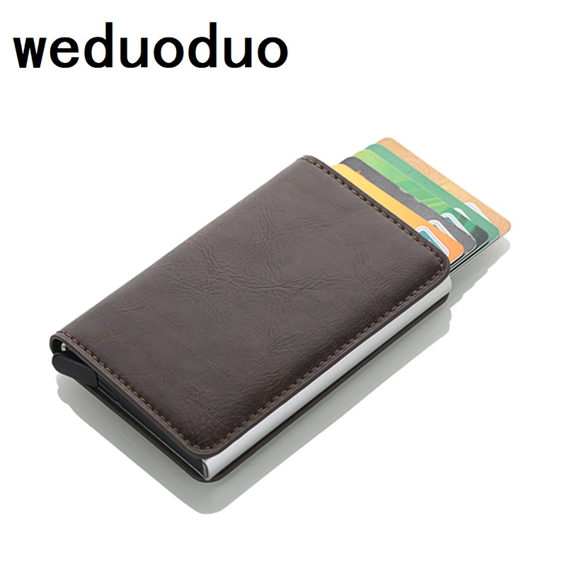 Good Weduoduo Rfid Card Holder Men Wallets Money Bag Male Vintage Credit Card Holder 2019 Small Leather Smart Wallets Mini Wallets Large Assortment Coin Purses & Holders