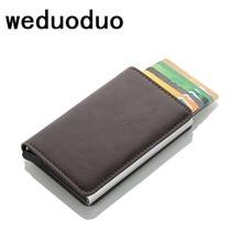 Weduoduo Rfid Card Holder Men Wallets Money Bag Male Vintage Credit 2019 Small Leather Smart Mini