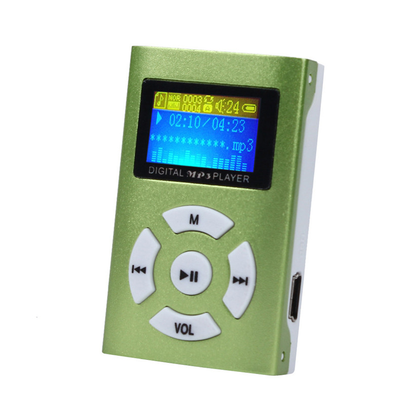 Горячая USB Mini MP3-плееры ЖК-дисплей Экран Поддержка 32 ГБ Micro SD TF cardfree доставка 0802