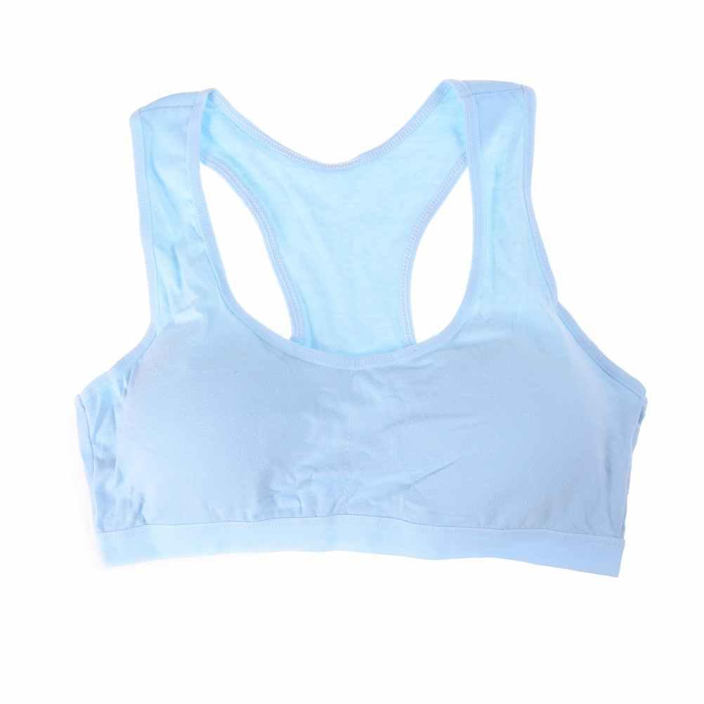 1 ud. Sujetador deportivo de algodón de alta transpirabilidad Top Fitness Mujer acolchado para correr Yoga gimnasio sujetador corto sin costuras gran oferta