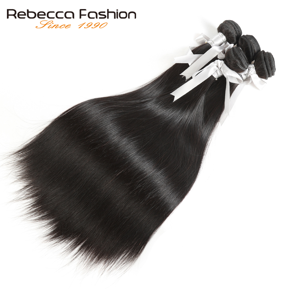 Rebecca Malaysian Straight Hair 4 Bundles Deal 10-26 tums icke remy - Barbershop - Foto 3