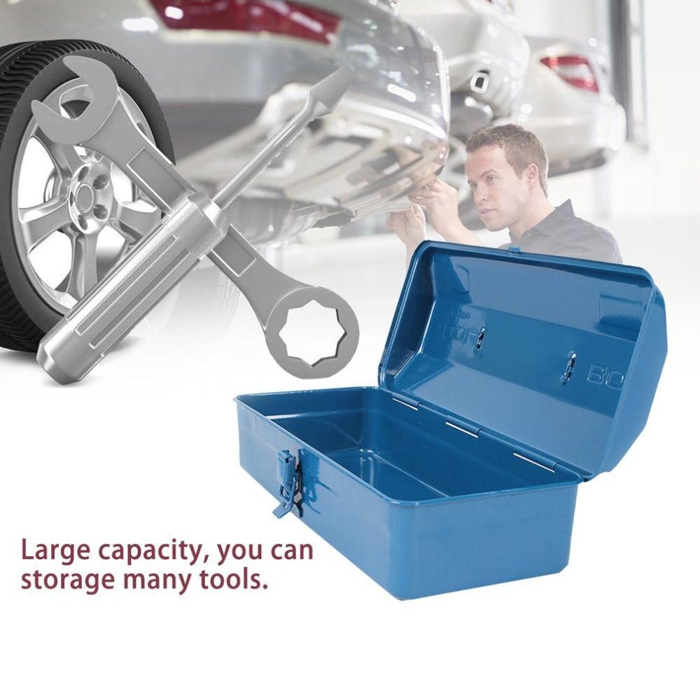 Large Capacity Workshop Storage Bin Tool Container Anti-Broken Metal Car Repair Tool Storage Box Garage Organizer Repair Case