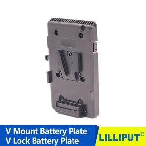 Image 3 - Адаптер аккумулятора BP 14,8 в, v образное крепление, V образное крепление, зажим аккумулятора для видеокамеры DSLR, HDMI, монитора 4K, панельная коробка со светодиодсветильник кой