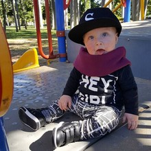 2 Pcs/SET New child Child Boys Letters Printed Lengthy Sleeve T-shirt+Pants Youngsters Outfits Units Autumn Youngsters's Clothes Units Xmas