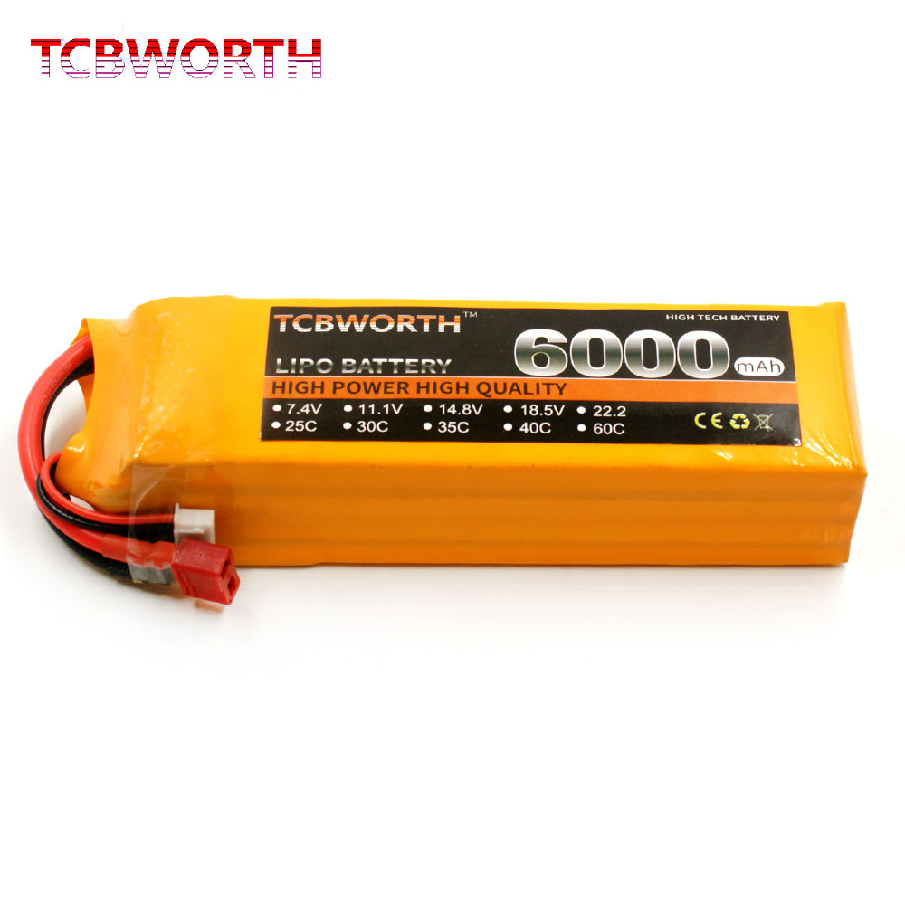 TCBWORTH <font><b>4S</b></font> 14.8V <font><b>6000mAh</b></font> 60C-120C <font><b>4S</b></font> RC <font><b>LiPo</b></font> <font><b>Battery</b></font> For RC Airplane Helicopter Quadrotor Car Drone RC Toys <font><b>Batteries</b></font> <font><b>LiPo</b></font> <font><b>4S</b></font> image