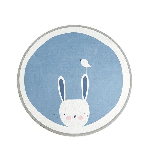 Activity & Gear 3 Designs Letter Bear Face Rabbit Round Thick Non-slip Carpet Mat Childrens Play Mat Tent Bed Mat Latest Technology