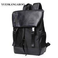 YUES KANGAROO High Quality Brand Leather Business Men Laptop Backpack Casual Travel Rucksacks College Students Schoolbag