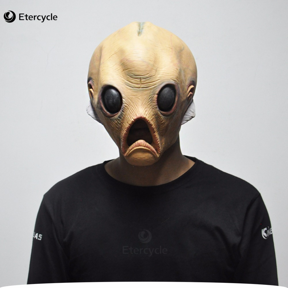 Pelottava Alien Latex Masks Halloween ET Cosplay Props Party Fancy Dress Extra maanpäällinen maski