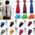 Men Fashion Solid Tie Knit Knitted Tie Pure Color Necktie Narrow Slim Woven Brief Trendy Tie Business