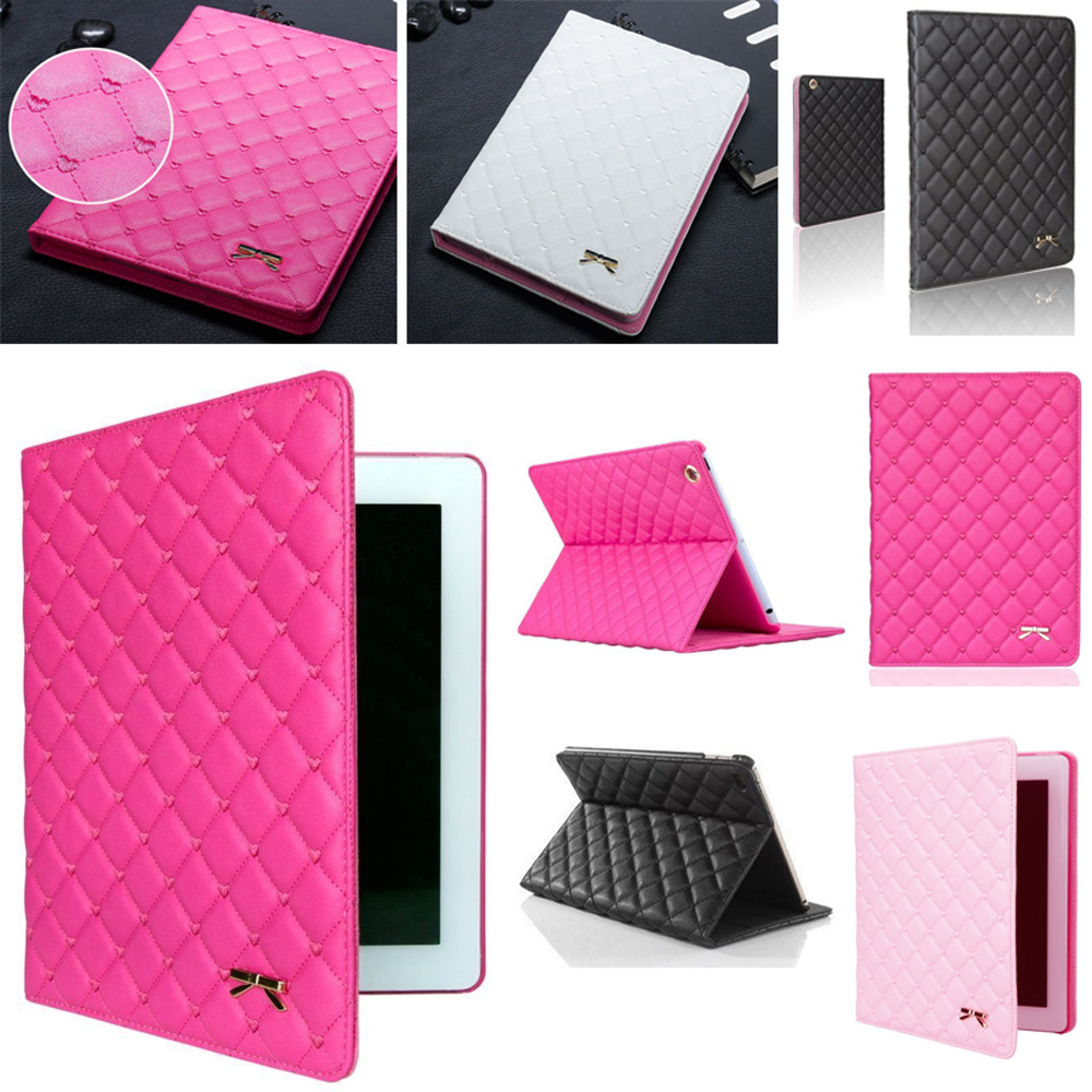 For Apple iPad Air 2/ IPad 6 Case Luxury Girl Smart Flip Stand PU Leather Cover Auto Wake Up Sleep Tablet Case A1566 A1567