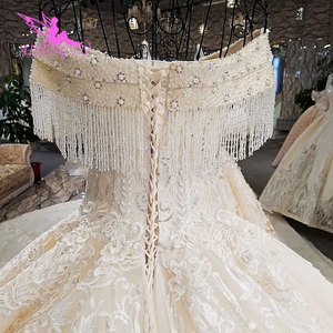 Image 4 - AIJINGYU Real Photo Wedding Dresses Bridal Gown Shop 2021 2020 Made In China Popular Boho Designer Gowns Wedding Dress Outlet