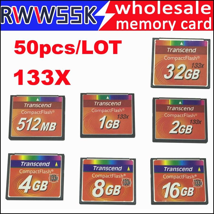 50pcs lot High speed compact flash cf card 1GB 2GB 4GB 8GB 16GB 32GB 133X